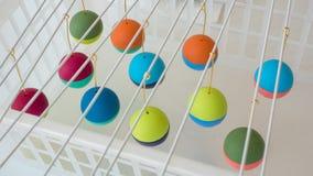 Malereipolymer-Lehmperlen Handgemachte Werkstattzusammensetzung des Lehms, der Perlen, der Werkzeuge und der Farbe Lizenzfreie Stockbilder