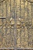 Malereitür in der goldenen Farbe Stockfotografie