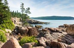 Malerische Acadia-Nationalpark-Küstenlinie Lizenzfreies Stockfoto