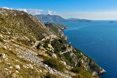 Malerische adriatische Küste Lizenzfreie Stockbilder