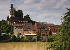 Malerische alte deutsche Stadt Stockfotos