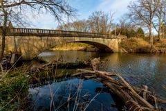 Malerische alte Pennington-Nebenfluss-Brücke in Oklahoma Stockfoto