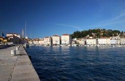 Malerische alte Stadt Piran - adriatische Küste des Slowenen, Slowenien, Europa Lizenzfreies Stockfoto