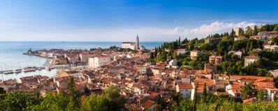 Malerische alte Stadt Piran - Slowenien. Stockbild