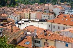Malerische alte Stadt Piran, Slowenien Stockfotografie