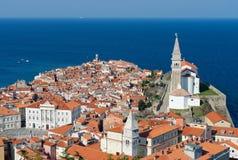 Malerische alte Stadt Piran - Slowenien Stockfotografie