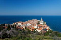 Malerische alte Stadt Piran - Slowenien Lizenzfreie Stockbilder