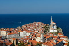 Malerische alte Stadt Piran - Slowenien Lizenzfreie Stockfotografie