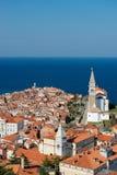Malerische alte Stadt Piran - Slowenien Stockbild