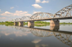 Malerische Ansicht über Brücke über Weichsel in Grudziadz in Polen Stockfoto