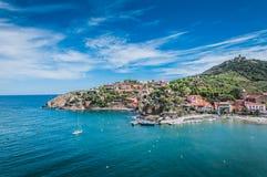 Malerische Ansicht der Straßen von Collioure, Frankreich lizenzfreies stockfoto
