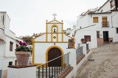 Malerische Ansicht der typischen spanischen Kirche Lizenzfreies Stockbild
