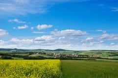 Malerische Ansicht des hügeligen Landschaftbereiches Lizenzfreie Stockfotografie