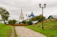 Malerische Ansicht des Suzdal der Kreml, Russland Goldener Ring von Russland Stockfotografie