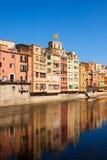Malerische Ansicht von Girona in der Tageszeit Stockfotos
