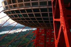 Malerische Brücke in Moskau Stockbild