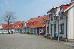 Malerische bunte Häuser Lizenzfreie Stockfotos