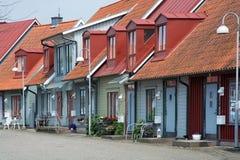 Malerische bunte Häuser Lizenzfreie Stockbilder