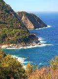 Malerische felsige Küste von Elba-Insel, Italien Stockbild