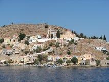 Malerische Insel von Symi lizenzfreies stockfoto