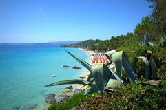 Malerische ionische Küste Stockfotos