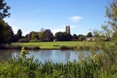 Malerische Kirche Cotswolds, Cirencester und Park Stockfoto