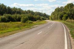 Malerische kurvenreiche Straße, Lizenzfreie Stockfotografie
