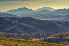 Malerische landwirtschaftliche Landschaft Stockbild