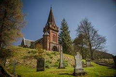 Malerische schottische Kirche Stockfotos