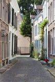 Malerische Straße in Zutphen stockfotografie