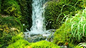 Malerische Wasserfalllandschaft im Plitvice See-Nationalpark stock video