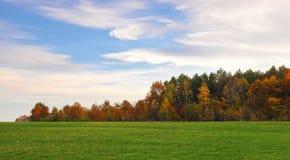 Malerische weiße Anschläge von Wolken im hellen blauen Himmel Lizenzfreie Stockfotos