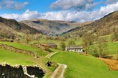 Malerischer Bauernhof im englischen See-Bezirk Stockfotos