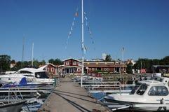 Malerischer Hafen von Nynashamn Stockbild
