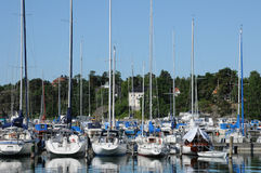 Malerischer Hafen von Nynashamn Lizenzfreie Stockfotos