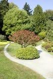 Malerischer japanischer Garten Stockfoto