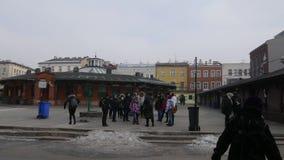 Malerischer Marktplatz in Krakau stock video footage
