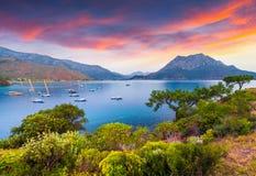 Malerischer Mittelmeermeerblick in der Türkei Lizenzfreies Stockbild