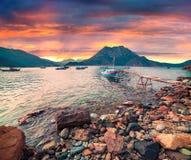 Malerischer Mittelmeermeerblick in der Türkei Lizenzfreie Stockfotografie