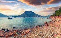 Malerischer Mittelmeermeerblick in der Türkei Lizenzfreie Stockfotos