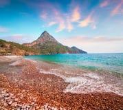 Malerischer Mittelmeermeerblick in der Türkei Stockbild