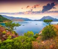 Malerischer Mittelmeermeerblick in der Türkei Lizenzfreies Stockfoto