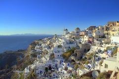 Malerischer Oia, Santorini Stockfotografie