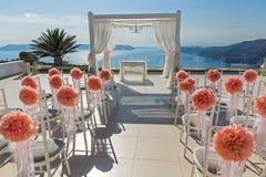 Malerischer Platz für die Hochzeit Stockfotos