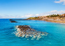 Malerischer Strand EL Duque in Costa Adeje Lizenzfreies Stockfoto
