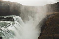 Malerischer Wasserfall, Island Nordische Natur lizenzfreie stockbilder