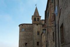 Malerischer Winkel in Anghiari, Toskana lizenzfreies stockbild