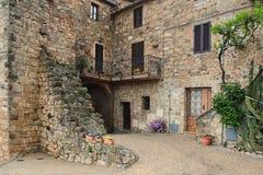 Malerischer Winkel von Toskana stockfoto
