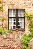 Malerisches belgisches traditionelles Fenster Lizenzfreie Stockfotografie