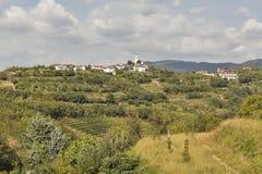 Malerisches Dorf Smartno in West-Slowenien Lizenzfreies Stockbild